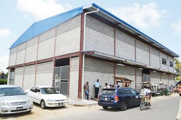 The newly constructed Mahaica Market.
