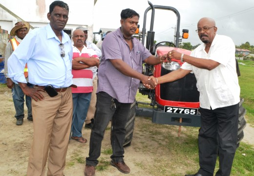 Little Diamond/Herstelling NDC gets tractor to boost garbage collection– through joint effort with Local Gov't Ministry
