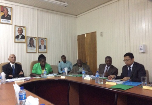 Officials of the IsDB and Ministry of Communities deliberate on technical aspects of proposed Housing Solutions