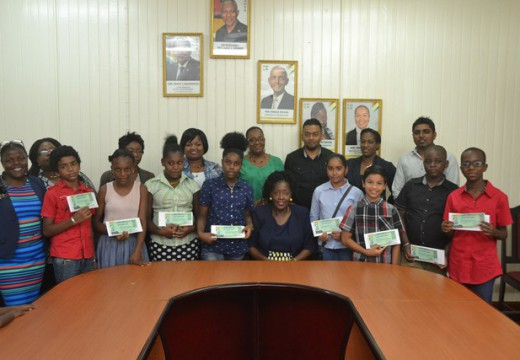 Ministry of Communities present Bursary awards to Albouystown, Tiger Bay Students