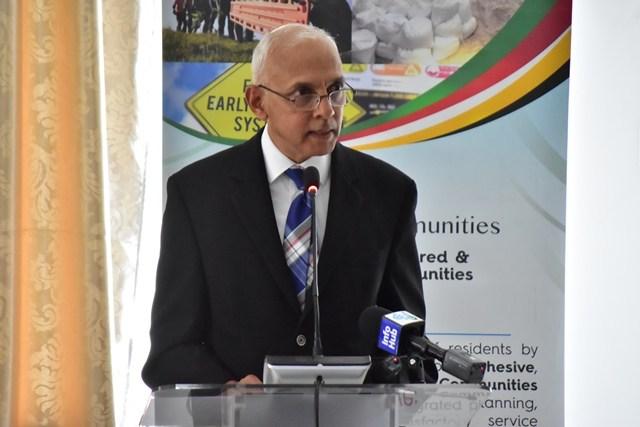 Minister of Communities Ronald Bulkan.