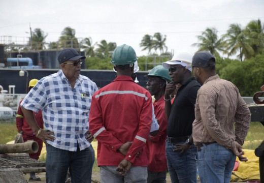 Managing Director of GWI Dr. Richard Van-West Charles and tam during the site visit