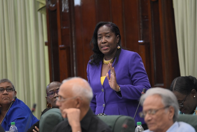Minister within the Ministry of Communities, Valerie Patterson Yearwood.