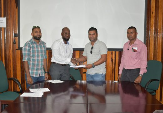 Contracts Totalling Approx. G$110M Signed for Execution of Water Supply Improvement Projects