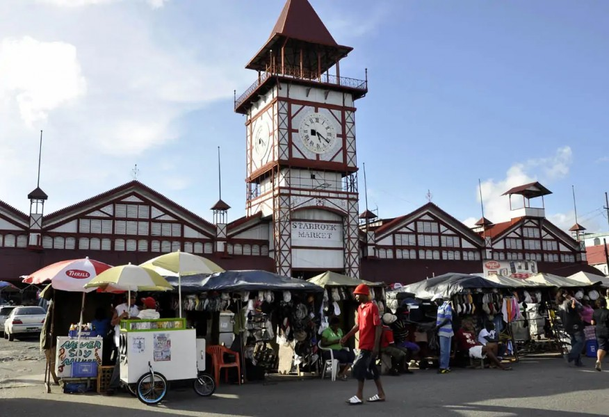 Local Government team visits Stabroek Market stallholders